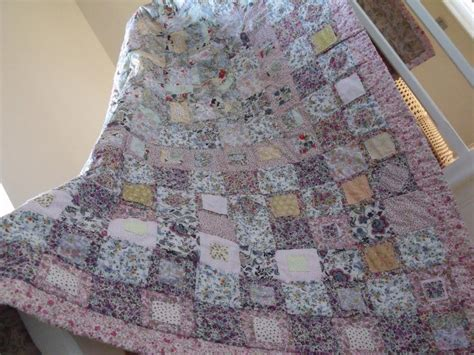 Shabby Chic Patchwork Quilt - patchwork quilt cottage style shabby chic style quilt