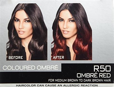 hair color side effects loreal feria brush on ombre effect hair color r50 ombre red