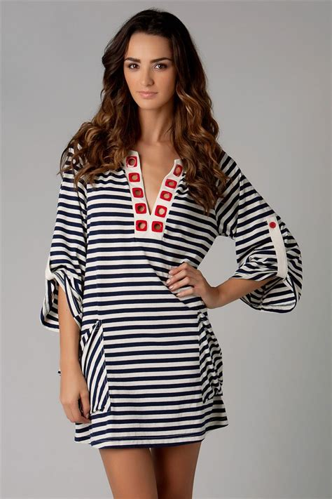 Nanette Lepores Nautical Collection Hits My Wardrobecom by Nanette Lepore S Riviera Stripe Tunic Everything But Water