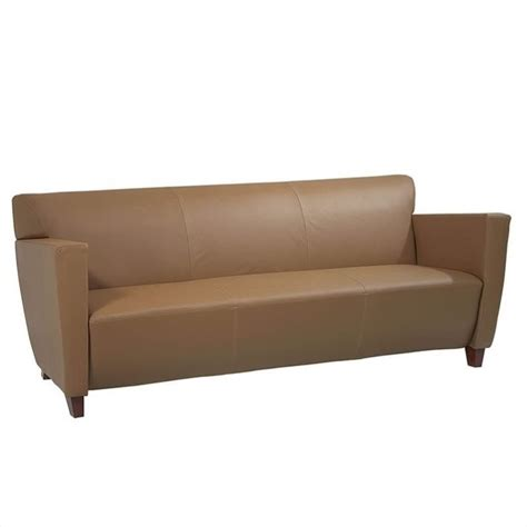 Furniture Taupe Leather Sofa Sl8873