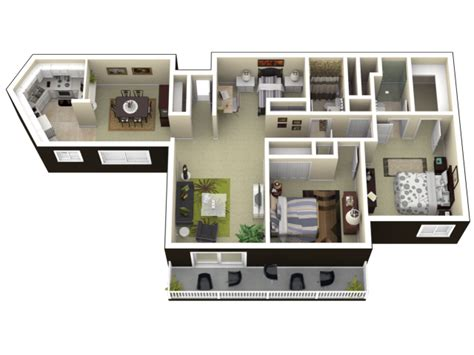2 bedroom with den 2 bedroom w den
