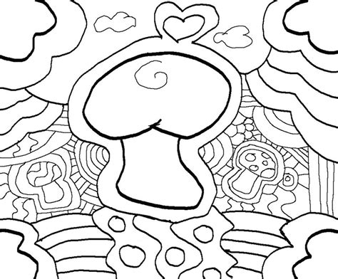 abstract mushrooms coloring pages 7 best images of printable abstract coloring pages stoner