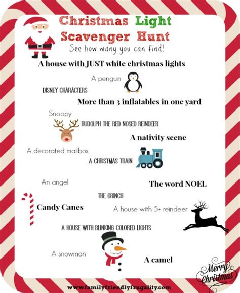 printable christmas scavenger hunt cards 17 best images about christmas games activities on