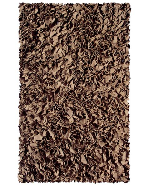 shaggy rag rugs brown shaggy raggy rug by the rug market rosenberryrooms
