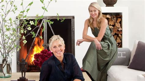 ellen degeneres  portia de rossi share  magnificent designs   home