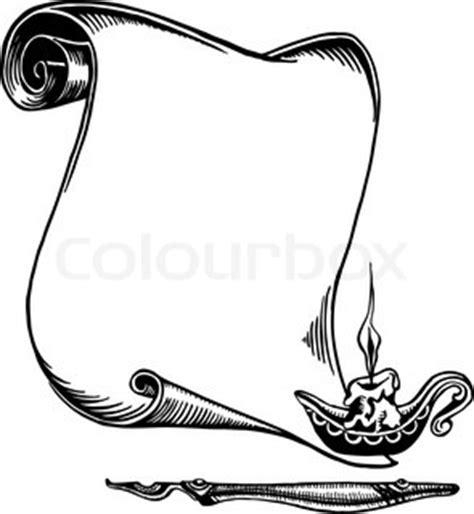 scroll   paper     candle vector colourbox