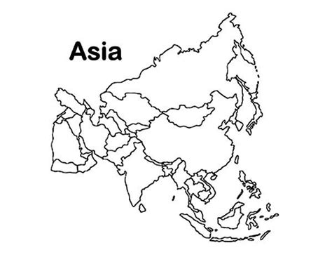 coloring page map of asia asia continent in world map coloring page download