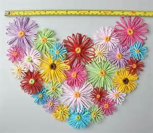 floral handmade multicolor loom flowers wall decor
