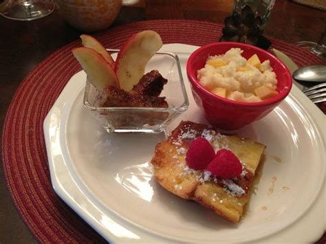 mckinney bed and breakfast creme brulee french toast with cheese grits applewood