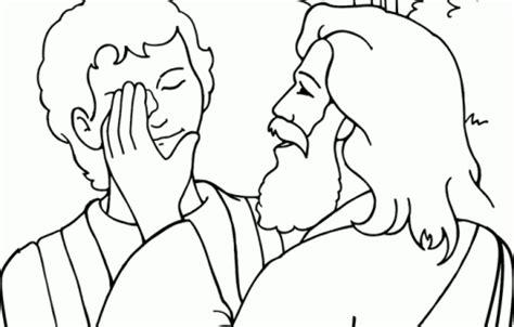 blind bartimaeus coloring pages kinderfr 252 hst 252 ck pinterest