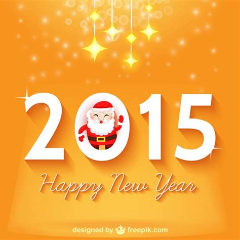new year design vector free happy new year design with santa claus free vector