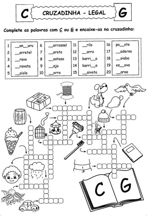 As 25 melhores ideias de Palavras cruzadas para imprimir