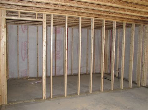 basement wall framing framing basement walls decor houseofphy