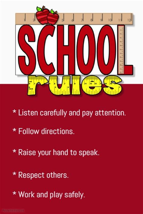 templates for school posters school rules template postermywall