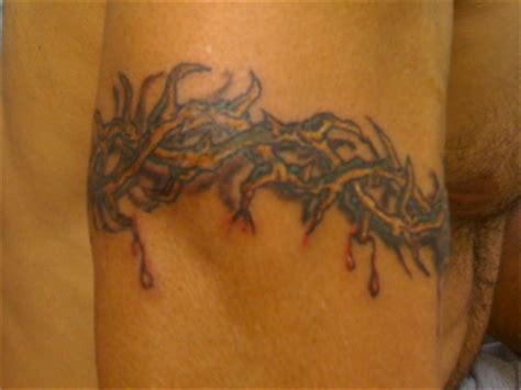 crown of thorns wrist tattoo crown of thorns arm band outside crown of