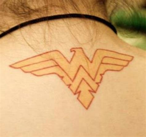 wonder woman symbol tattoo this is my comic inspired i created a mixture