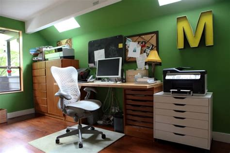 green colored office