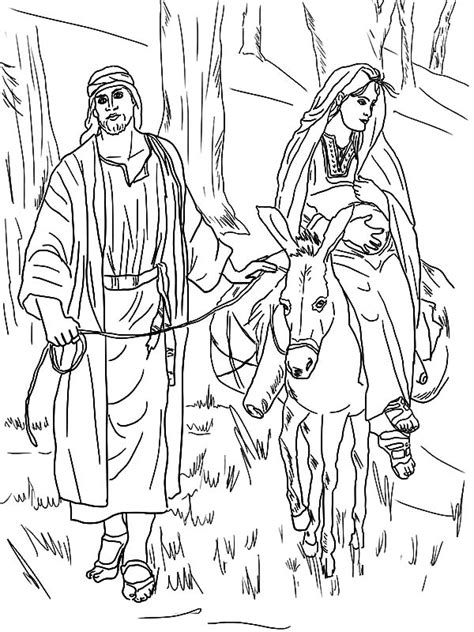 coloring pages mary and joseph bethlehem mary and joseph and the donkey coloring pages best place