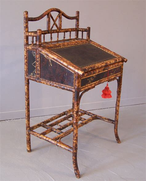 English Bamboo And Lacquer Standing Desk C1880 Item Antique Standing Desk