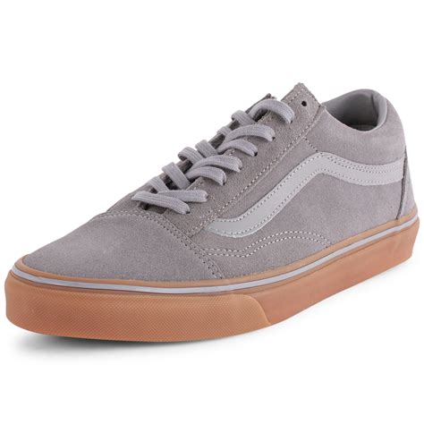 vans gumsole skool mens suede grey trainers new shoes