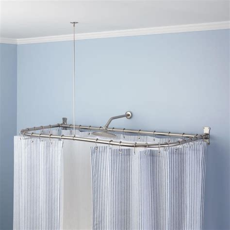 Bathroom Shower Rod 17 Best Ideas About Shower Curtain Rods On Kitchen Space Savers Curtain Rods And