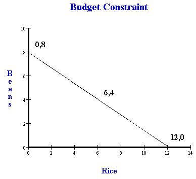 how to draw economic graphs solving a budget constraint problem in economics