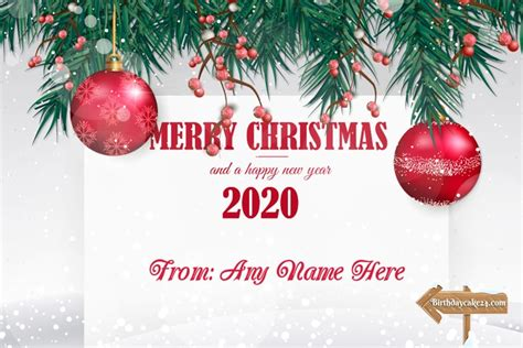 merry christmas happy  year  card   edit