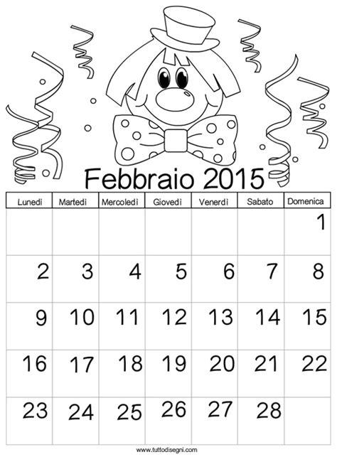 Calendario 2015 Da Stare Calendario 2015 Da Colorare Febbraio Tuttodisegni