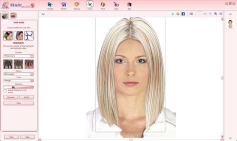 virtual hairstyles highlights hair master 5 virtual hairdresser on your computer