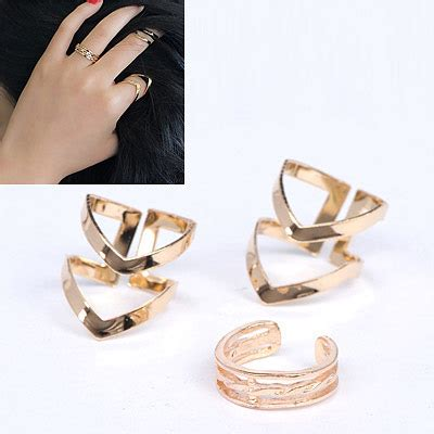 stylish gold color triangle shape decorated simple design