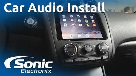 sonic electronix car audio stereo car subwoofers car 2012 nissan altima ipad mini and car audio system install