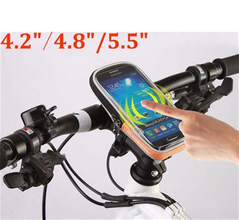 Bicycle Phone Holder 4 Penyanggah One Touch T0210 1 aliexpress buy roswheel handlebar bag bike phone bag cases touch screen bicycle bags 4 2