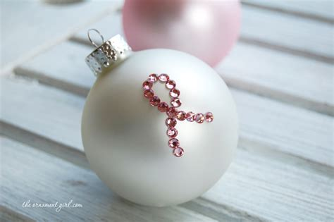 pink ribbon breast cancer awareness handmade ornament diy