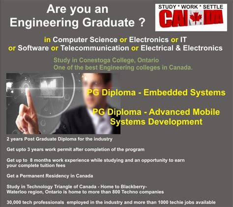 Conestoga College Mba Program by Pg Diploma In Canada Education Abroad Consultancy