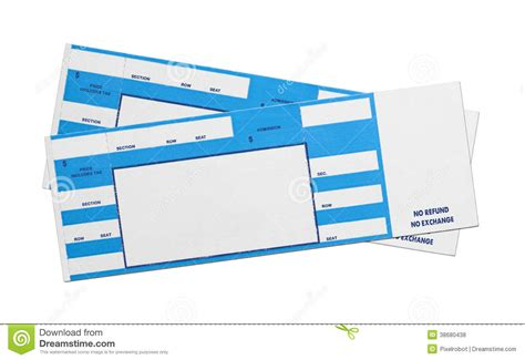 ticketmaster ticket template blue concert tickets stock photo image of