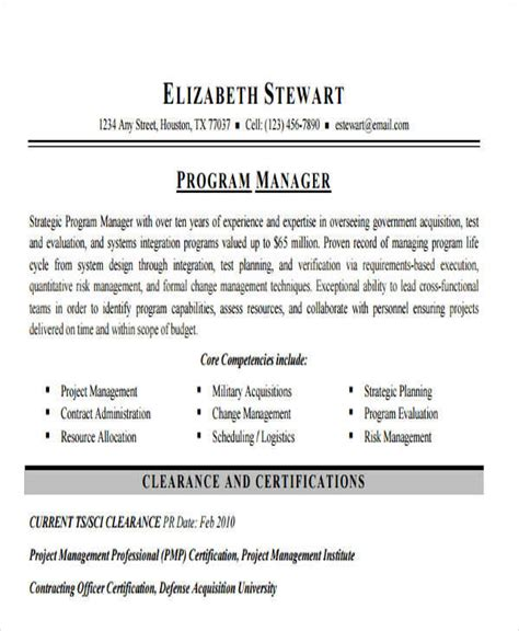 Sle Resume For Software Product Manager software project manager resume sle 28 images business