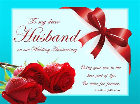 Wedding Anniversary Greeting To My Husband by Wedding Anniversary Cards For Husband Festival Around