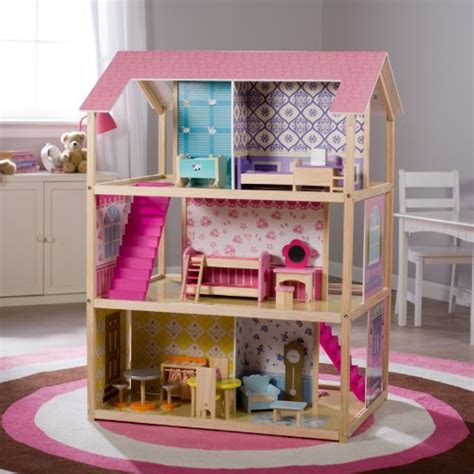 play doll houses kid kraft deluxe play around dollhouse dollhouse