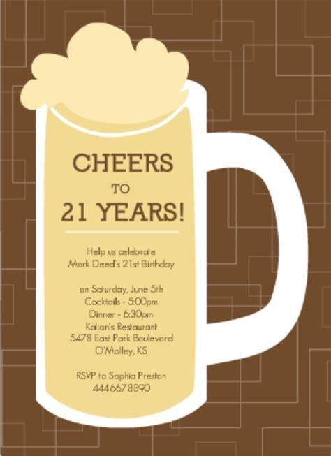 21st Birthday Invitation Wording Ideas From PurpleTrail