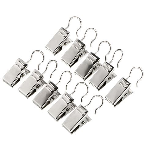 shower curtain hooks with clips 20pcs stainless steel window shower curtain rod clips hook