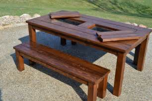Wood Patio Table Plans Kruse S Workshop Step By Step Patio Table Plans With Built In Coolers