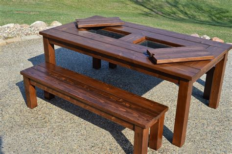 kruses workshop step  step patio table plans