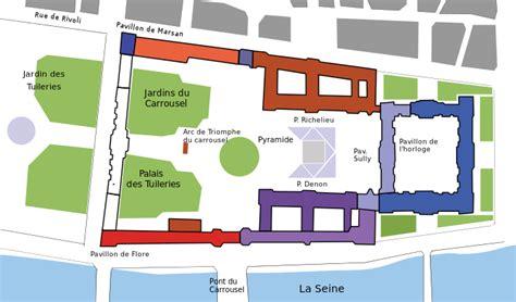 louvre museum floor plan discussion mus 233 e du louvre wikip 233 dia