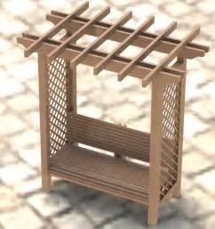 garden bench with trellis garden arbor trellis with bench woodworking plans easy