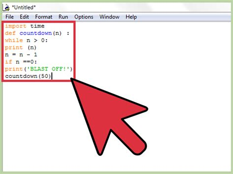 how to make a how to make a countdown program in python with pictures