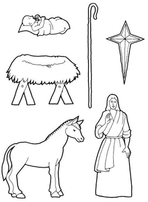 lds coloring pages jesus birth nativity pieces