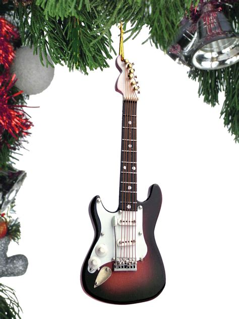 buy electric guitar christmas ornament music gift