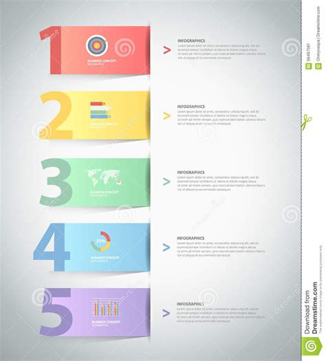 stepping design templates design infographic template 5 steps stock vector image