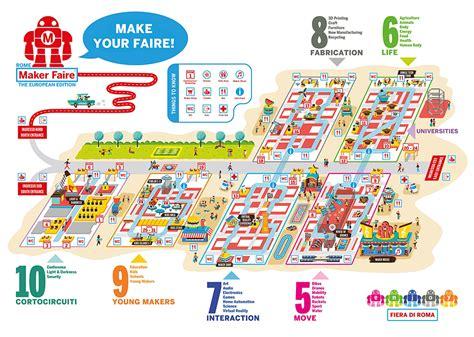 nuova fiera di roma ingresso est una mappa della maker faire rome 2016 tutti i