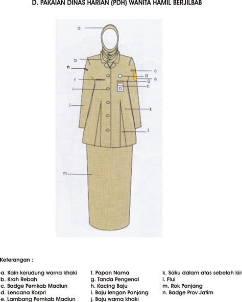 Pakaian Dinas Harian ketentuan pakaian dinas harian pdh dilingkup pemerintah